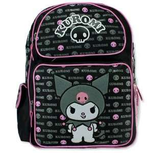 Sanrio Kuromi Black/ Pink Large 16 Backpack School Bag  Officially