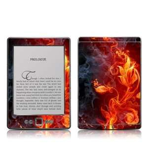 Flower Of Fire Design Protective Decal Skin Sticker   Matte Satin