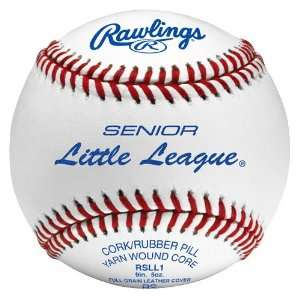 Rawlings RSLL1 Senior Little League Baseballs WHITE W/ RED