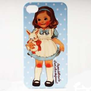 Skyblue Dot Rabit Painting Vintage Pinup Girl iPhone 4/4S
