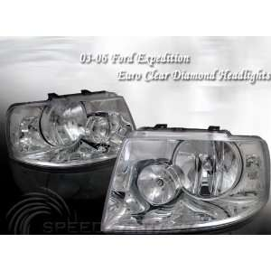 Ford Expedition Headlights Diamond Clear Headlights 2004 2005 2006 04