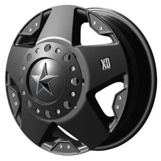 KMC XD Wheel XD 775 Rockstar Black 17x6 8x170mm Bolt Circle Rear