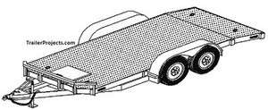 18x8 Car Equipment Hauler Carrier 1218 Trailer Plans
