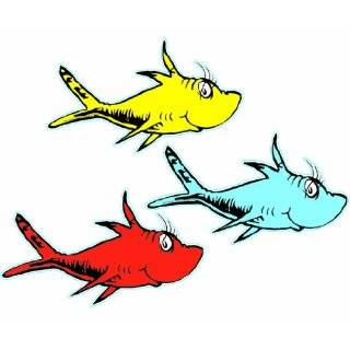 Eureka Dr. Seuss One Fish, Two Fish Assorted 5 Inch Paper Cut Outs