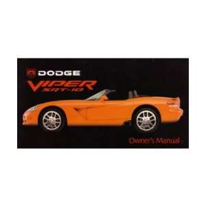2003 DODGE VIPER Owners Manual User Guide Automotive