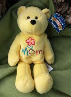 1999 Limited Treasures MOM Flower Teddy Bear Beanie Stuffed Plush