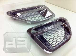 Range Rover Sport Chrome Mesh Side Fender w/ Supercharged Design (Fits