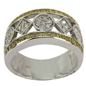 Platinum Yellow Sapphire Diamond Band   7 DaCarli Jewelry