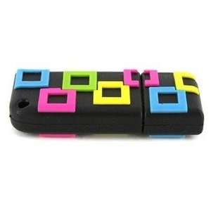 2GB Small Square USB Flash Drives Disk (Black