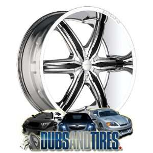 22 Inch 22x9.5 Baccarat wheels OUTRAGE 2160 Chrome wheels rims