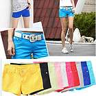 Women Casual Candy Colours Shorts Short Jeans low waisted 17 colors
