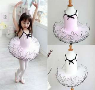 Girl Birthday Party Leotard Ballet Tutu DanceDress 3 8Y