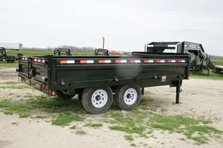 New 14 x 96 Gooseneck Hydraulic Dump Trailer with 7K Axles