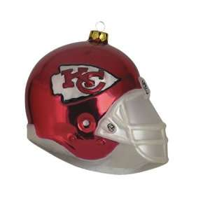 BSS   Kansas City Chiefs NFL Glass Football Helmet Ornament (3 inches)