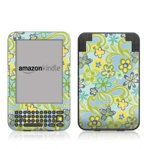 Hippie Flowers Blue Design Protective Decal Skin Sticker