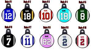 Personalized Football, Hockey, Baseball Jersey Necklace