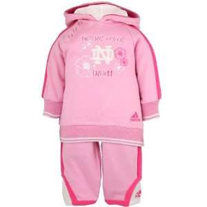 adidas Notre Dame Fighting Irish Pink Infant Fashion Sweatsuit