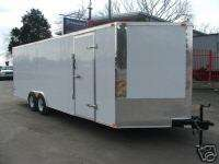 NEW 8.5 X 24 ENCLOSED MOTORCYCLE OR CAR HAULER