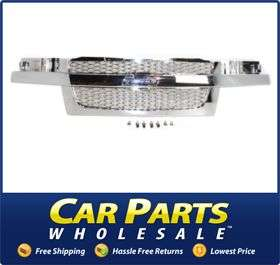 New Grille Assembly Grill Chrome Chevy Chevrolet Colorado 2006 2005