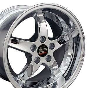 Cobra R Deep Dish Style Wheels Fits Mustang (R)   Chrome17x9 /17x10.5
