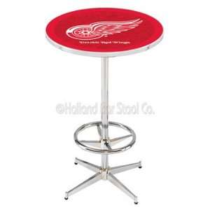 Detroit Red Wings Chrome Pub Table   NHL Series
