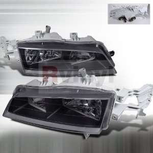 Honda Accord 1994 1995 1996 1997 Euro Headlights   Black