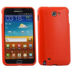 Orange Soft TPU Gel Case Cover For Samsung Galaxy Note