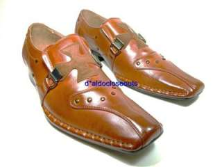 Mens Brown Italian Style Designer Fashion Dress Casual Loafers Shoes