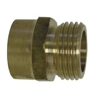 Watts A 668 Brass Garden Hose Adapter, 3/4 Inch x 1/2 Inch FPT at
