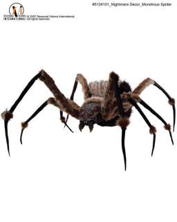 MONSTROUS SPIDER W/Light Up Eyes Halloween Prop