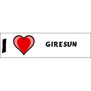 Love Giresun Bumper Sticker (3x12)  SHOPZEUS Computers & Electronics