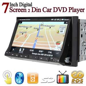 HD 2 Din 7Car Stereo DVD Player GPS Navigation PIP TV