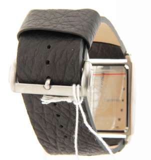 Kenneth Cole Reaction Black Leather Wide Band Mens Casual Dress Watch
