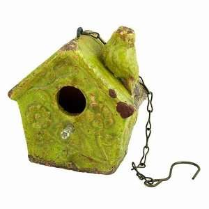 Old World Bird House  Green