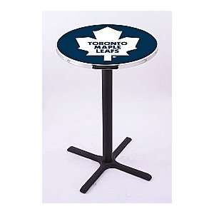 Toronto Maple Leafs HBS Pub Table with Black Wrinkle base