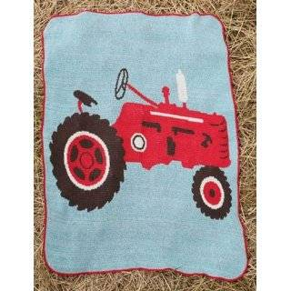 Red Farm Tractor Jr Throw Blanket