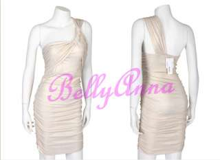 Sexy Women Luxurious One Shoulder Padded Cocktail Clubwear Party Mini