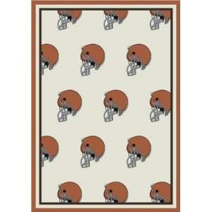 Milliken Cleveland Browns 3 10 x 5 4 black Area Rug