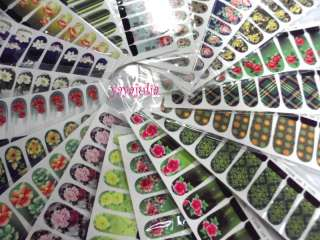 Nail Art Decal Sticker Water Slide Tattoo Transfer W6