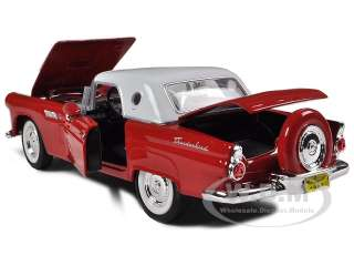 Brand new 124 scale diecast car model of 1956 Ford Thunderbird Red