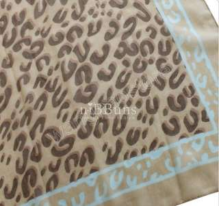 Blue 1.8M Large Animal Prints Leopard Wrap Stole Fahion Women Soft