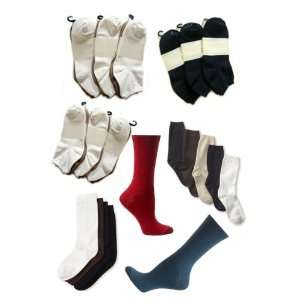 Wholesale Pack   15 Pairs of Assorted Womens Microfiber Socks