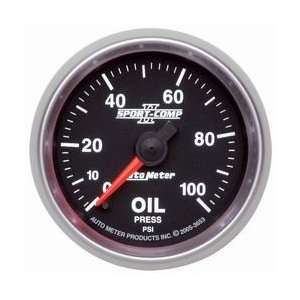 Meter 3627 2 1/16 0 100 PSI Short Sweep Electric Oil Pressure Gauge