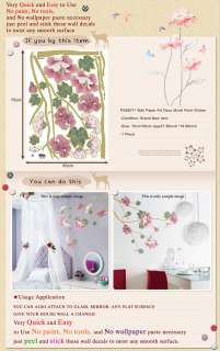 PS 58071 FLOWER WAll PAPER ART DECO MURAL DECAL STICKER