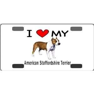 American Staffordshire Terrier Vanity License Plate