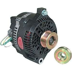 Alternator Black Ford Conversion w/V  & Serp. Pulley 200A Automotive