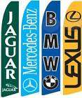 FOUR(4) BMW MERCEDES JAGUAR LEXUS FEATHER FLAG SIGN KIT