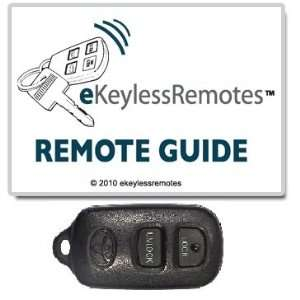 2000 2003 Toyota Echo Keyless Entry Remote Fob Clicker With Do It