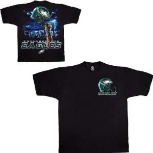 Liquid Blue Philadelphia Eagles Sky Helmet T Shirt  Sports