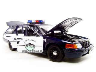LYNDEN POLICE CAR FORD CROWN VIC 118 DIECAST MODEL